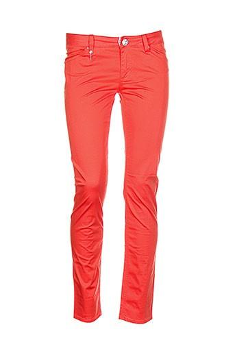 lerock pantalons femme de couleur orange