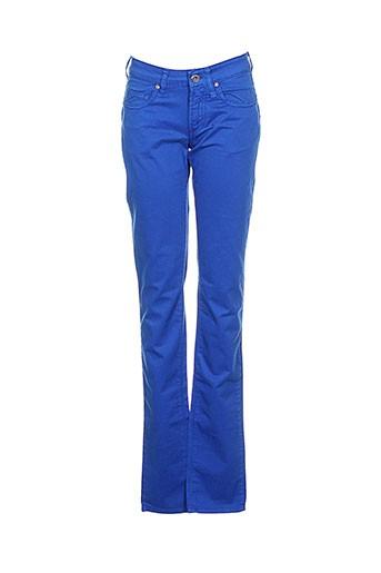 Pantalon casual bleu FIORUCCI pour femme