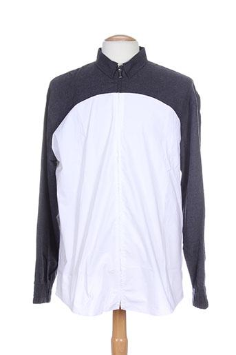 frankie morello chemises homme de couleur blanc