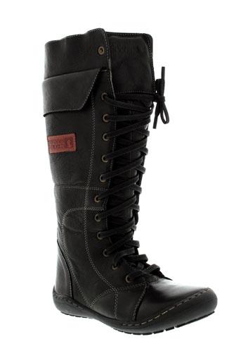 coronel et tapiocca bottes femme de couleur noir