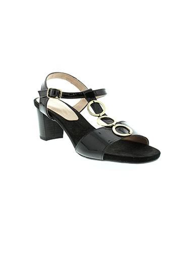 d et chicas sandales et nu et pieds femme de couleur noir