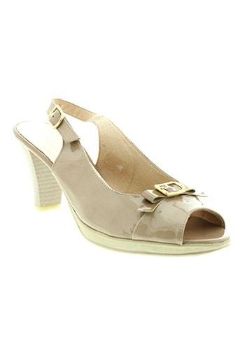 modabella sandales et nu et pieds femme de couleur beige