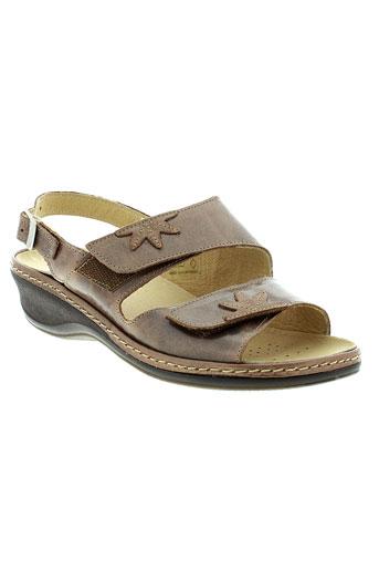 boissy sandales et nu et pieds femme de couleur marron