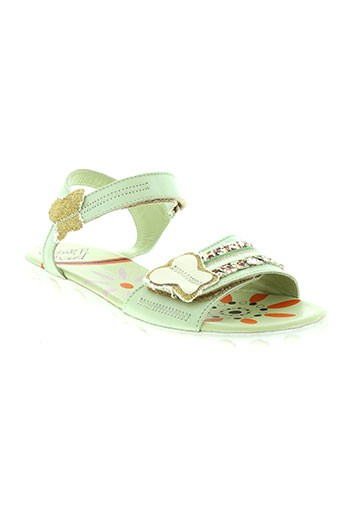 peche et d et amour sandales et nu et pieds fille de couleur vert