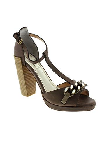 schumacher chaussures femme de couleur marron