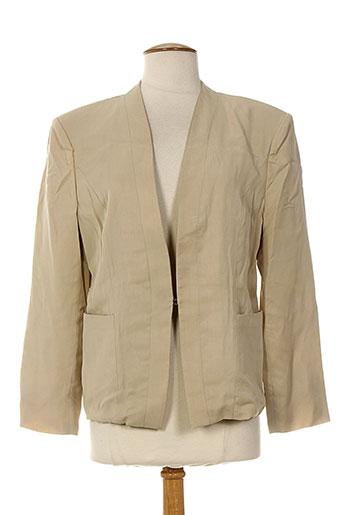 aby et gardner vestes femme de couleur beige