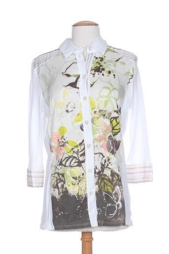 sergio ferrazzi chemises femme de couleur blanc