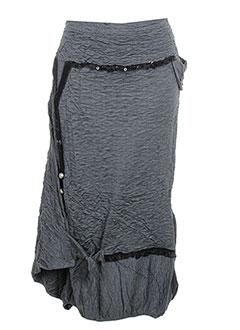 Jupe mi-longue gris CATY LESCA pour femme