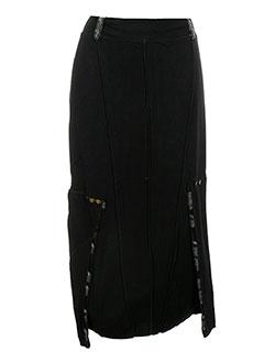 Jupe mi-longue noir CATY LESCA pour femme