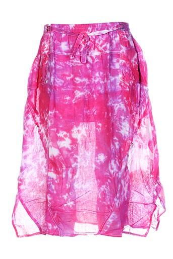 caty lesca jupes femme de couleur rose