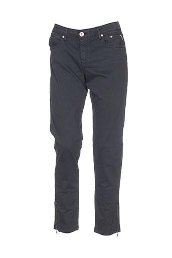 denim studio pantalons femme de couleur gris