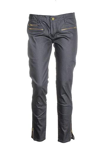 place et du et jour pantalons et decontractes femme de couleur gris