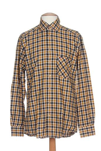 jupiter chemises homme de couleur marron