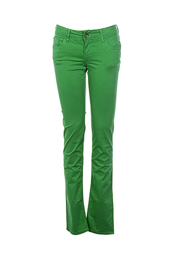 teddy smith pantalons fille de couleur vert