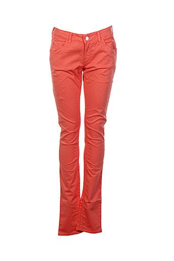 Pantalon casual orange BRIAN & NEPHEW pour fille