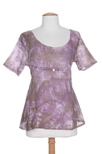 Top violet CATY LESCA pour femme