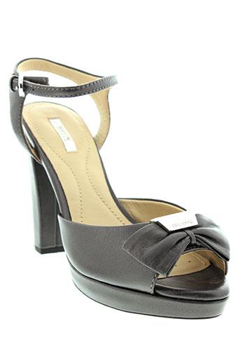 geox sandales et nu et pieds femme de couleur noir