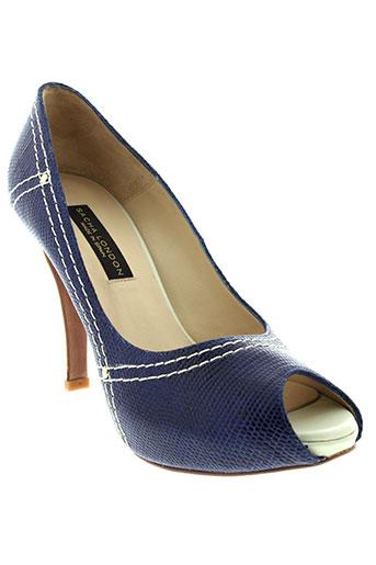 sacha et london escarpins femme de couleur bleu