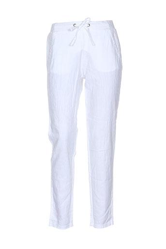 cream pantalons et decontractes femme de couleur blanc