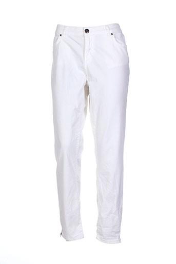 geisha pantalons femme de couleur blanc