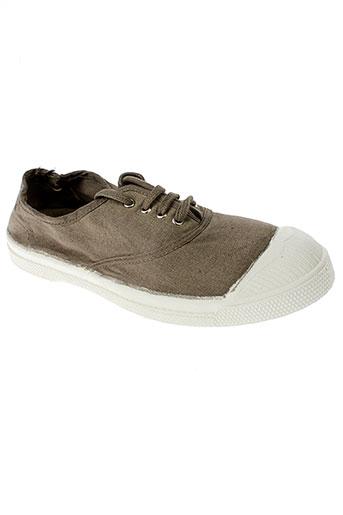 bensimon chaussures fille de couleur marron