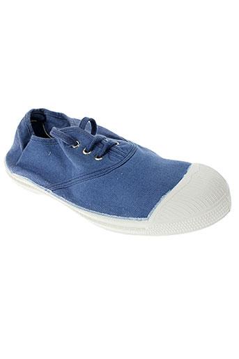 bensimon chaussures fille de couleur bleu