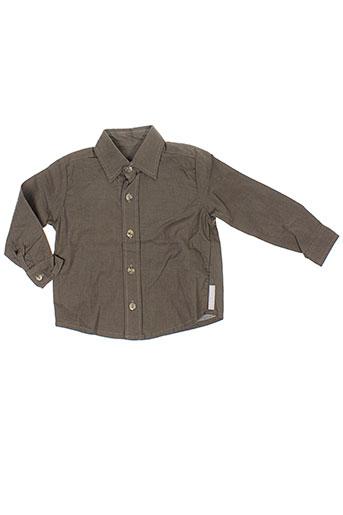 micro bulle chemises garçon de couleur marron