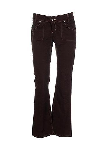 laita pantalons femme de couleur marron