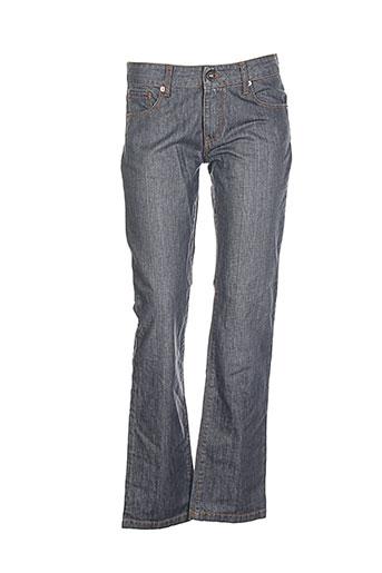 impact jeans femme de couleur bleu