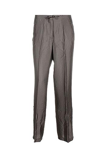 gelco pantalons femme de couleur marron