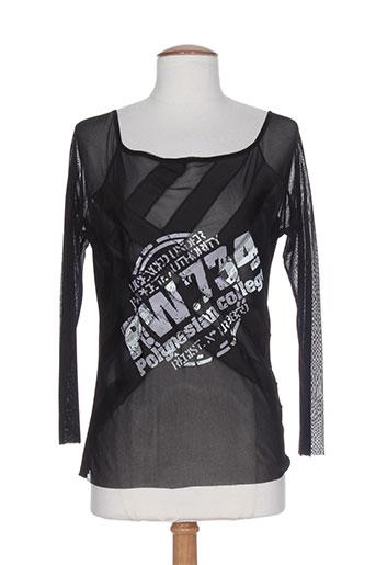carlopik chemises femme de couleur noir