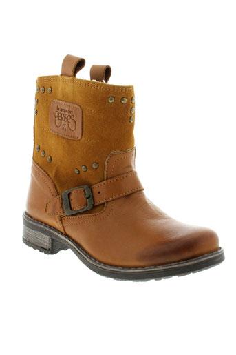 le et temps et des et cerises boots fille de couleur marron