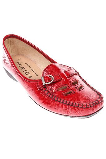hirica mocassins femme de couleur rouge