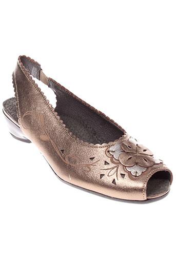luxat sandales et nu et pieds femme de couleur marron