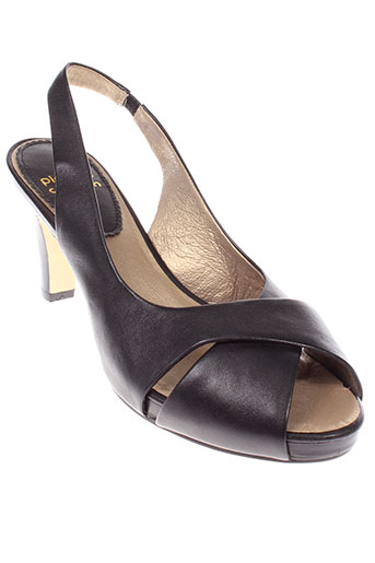 pierre et chupin sandales et nu et pieds femme de couleur noir