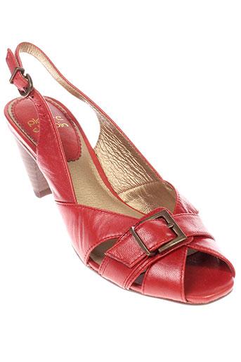 pierre et chupin sandales et nu et pieds femme de couleur rouge