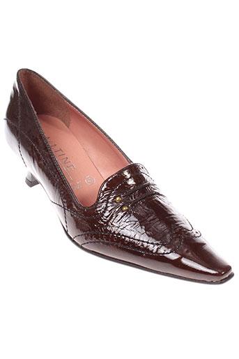 elantine chaussures femme de couleur marron