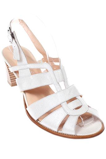 elantine sandales et nu et pieds femme de couleur blanc