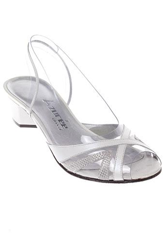 azuree sandales et nu et pieds femme de couleur blanc