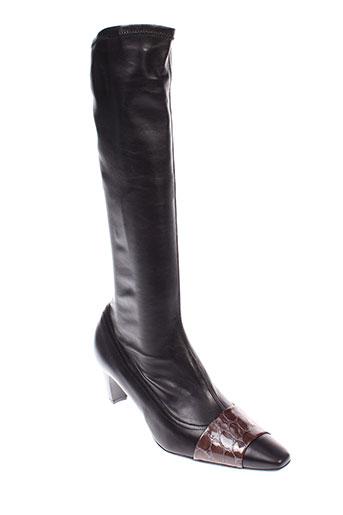 mondrie bottes femme de couleur noir