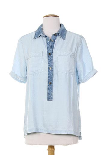 pepe jeans chemises femme de couleur bleu