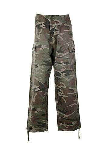 crossby pantalons et decontractes homme de couleur vert