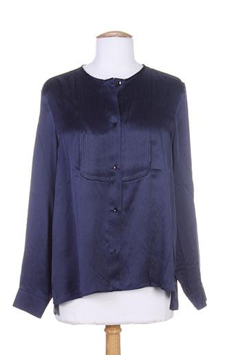 jean et paul et knott chemisiers et manches et longues femme de couleur bleu