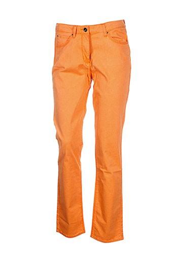 claude de saivre pantalons femme de couleur orange