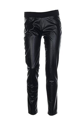 ams pure pantalons femme de couleur noir