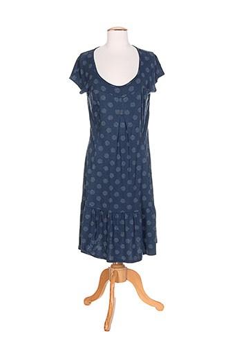 myrine et me robes et mi et longues femme de couleur bleu