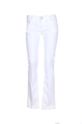 bel air pantalons femme de couleur blanc