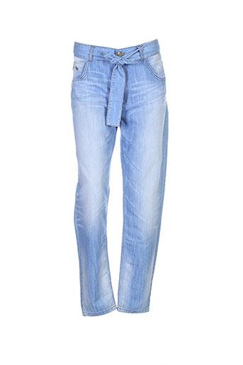 bel air jeans femme de couleur bleu