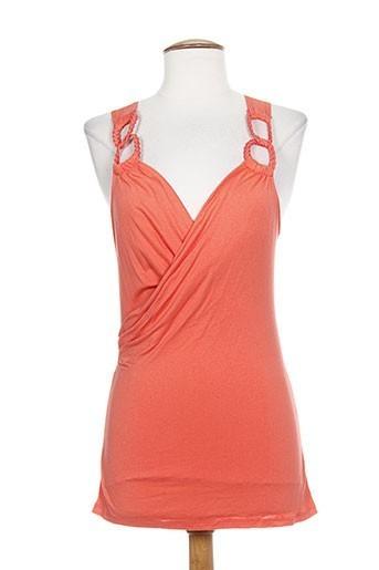 show girls t-shirts femme de couleur orange