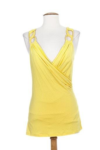 show girls t-shirts femme de couleur jaune